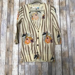 Anthropologie sparrow floral cardigan | S
